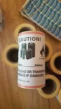 Lithium battery caution labels large 100 500 1000  royalmail shipping supplies
