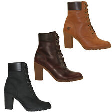 Timberland Glancy 6 Inch Ankle Booties Lace Up Women's Boots