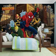 Papel Pintado Foto Mural Super Heroes Heroes Team Spiderman Marvel Photo