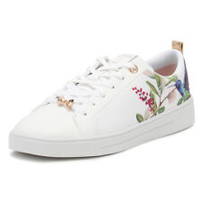 Ted Baker Womens White Ahfira Trainers Ladies Lace Up Sport Casual Shoes