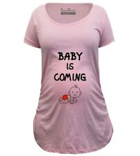 Pregnancy Shirts Maternity T shirts Tunic Clothes Baby Is Coming Slogan Outfit