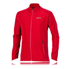 Asics Essentials Woven Hombres Rojo Impermeable Running Correr Deporte Chaqueta