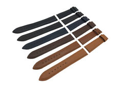 Black/Brown/Blue Genuine Leather Strap/Band fit Pulsar watch Clasp 18 19 20 22mm