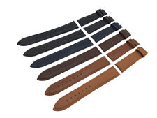 Black/Brown/Blue Genuine Leather Strap/Band fit Alpina watch Clasp 18 20 22mm
