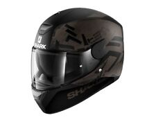 CASCO SHARK INTEGRALE D-SKWAL HIWO MAT NERO ANTRACITE VARIE TAGLIE MOTO SCOOTER