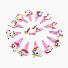 1/6/12Pc Pink Unicorn Hair Clips Hairpins Hair Accessories for Kids Baby Girls