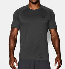 Under Armour Heatgear Men's UA Tech Short Sleeve T-Shirt  CARBON HEATHER   New.