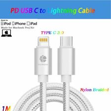 3Ft Braided Type C/USB C to Lightning Cable Charger Data Cord f iPhone X/8+ Lot