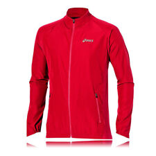 Asics Essentials Woven Mens Red Windproof Running Jacket Top