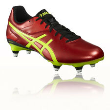 Asics Lethal Speed St Hommes Rouge Jaune Rugby Crampons Sport Chaussures Baskets
