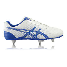 Asics Jet St Homme Blanc Bleu Crampons Baskets Rugby Sport Chaussures Sneakers