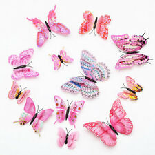 12PCS COLORFUL 3D BUTTERFLY FRIDGE DECORATION MAGNETIC REFRIGERATOR STICKERS