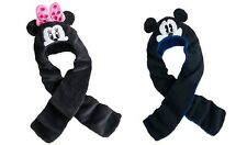 Disney store Minnie Mickey Mouse Hat and Scarf in One For Kids age 2- 3, 3 - 6