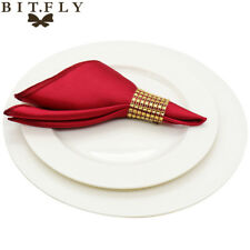 50pcs 30cm Table Napkins cloth Square Satin Fabric Napkin Pocket Handkerchief