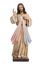 Jesus divine mercy statue wood carving