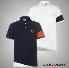 Mens Branded Jack And Jones Pique Collar Core Built Polo Shirt Top Size S-XXL