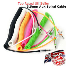 3.5 mm Audio Aux Cable Spiral Auxiliary Lead Adapter for mobile Phone PC & Car