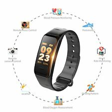 C1S Bluetooth Smart Watch Bracelet Heart Rate Blood pressure Monitor Android IOS