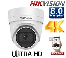 IP CCTV HIKVISION 2/ 5 / 8 MP Varifocal Network Turret PoE WDR Outdoor Camera 4K