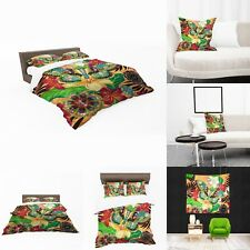UK Made 3D Butterfly Colours Photo Print Duvet Covers or Tapestry or Cushions