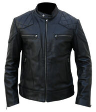 Mens Genuine NAPA Leather Biker Jacket Classic Style Motorbike Motorcycle Coat