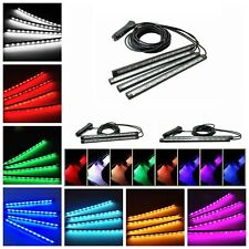 2/4 x 12 LEDS Individual Color LED Luz Interior Coche Zona Pies Tira de luces