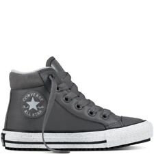 CONVERSE ALL STAR MILIEU BOTTE UNISEXE JUNIOR en cuir Gris