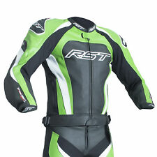 RST tractech EVO 3 IN PELLE GIACCA MOTO - APPROVATO CE - Verde