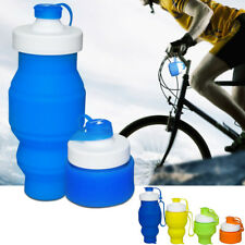 Travel Mug Riding Sports Bottle Silicone Retractable Folding Cup Camping