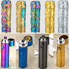 Windproof Flameless Lighter USB Arc Cylindrical Cigarette Plasma Rechargeable