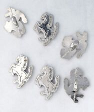 6 bottoni in metallo serie animali - CAVALLO - horse buttons