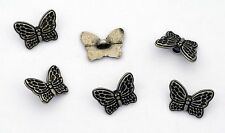 6 bottoni in metallo serie animali - FARFALLINA - butterfly buttons