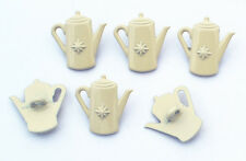 6 bottoni in metallo serie cucina - BROCCA TEIERA - pitcher teapot buttons