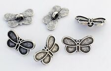 6 bottoni in metallo serie animali - FARFALLA - butterfly buttons
