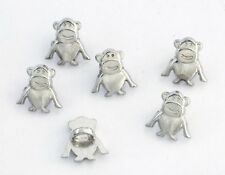 6 bottoni in metallo serie animali - SCIMMIA - monkey buttons