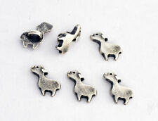 6 bottoni in metallo serie animali - PECORA - sheep buttons