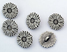 6 bottoni in metallo serie natura - MARGHERITA - daisy buttons