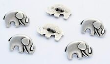 6 bottoni in metallo serie animali - ELEFANTE - elephant buttons