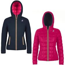 K-WAY LILY THERMO PLUS DOUBLE Imbottita reverse giacca DONNA CAPPUCCIO KWAY 956r
