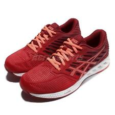 Asics FuzeX Red Orange White Women Running Shoes Sneakers Trainers T689N-2306