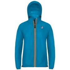 K-WAY LE VRAI 3.0 CLAUDETTE GIACCA DONNA CAPPUCCIO KWAY Blu California New 802jr