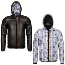 K-WAY reverse GIACCA UOMO KWAY CORTA CAPPUCCIO JACQUES KL AIR PADDED DOUBLE 931n