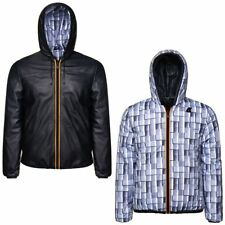 K-WAY reverse GIACCA UOMO KWAY CORTA CAPPUCCIO JACQUES KL AIR PADDED DOUBLE 908l