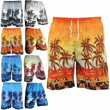 Mens Hawaiian Party Fancy Casual Fancy Beach Palm Tree Shirt Stag Party Shorts