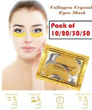 PAIRS PREMIUM Crystal Collagen Gold Powder Eye Masks Face Anti Ageing Wrinkle