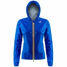 K-WAY GIACCA DONNA CORTA CAPPUCCIO KWAY IMPERMEABILE ZIP LILY PLUS Blu New 618fc