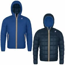 K-WAY Imbottita reverse giacca UOMO JACQUES THERMO PLUS DOUBLE KWAY Blu New 979i