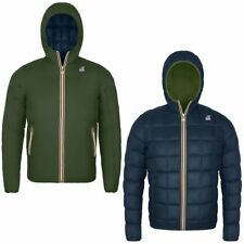 K-WAY JACQUES THERMO PLUS DOUBLE Imbottita reverse giacca UOMO KWAY Verde 980udh