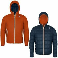 K-WAY JACQUES THERMO PLUS DOUBLE Imbottita reverse giacca UOMO KWAY Arancio 983z