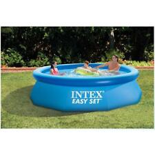 Inflatable Family Swimming Pool Garden Outdoor 244cm 76cm w Pump Cover Blue New